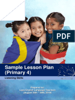 Year 4 Listening Lesson Plan