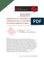Emergencia y desarrollo temprano de la autorregulacion en ninos preescolares.pdf