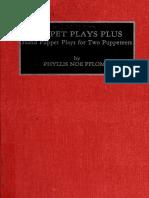 Puppet plays plus _ hand puppet - Pflomm, Phyllis Noe, 1925-