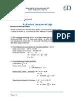 resolución Matemática Financiera