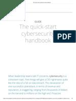 The Quick-start Cybersecurity Handbook