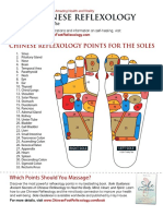 Chinese Foot Reflexology Charts