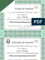 DIPLOMA-HONOR