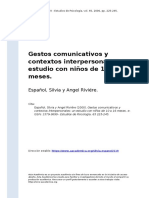 Espanol, Silvia y Angel Riviere (2000). Gestos comunicativos y contextos interpersonales un estudio con ninos de 10 a 16 meses