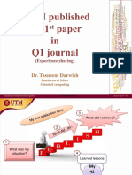 How did I publish my first paper in Q1 Journal