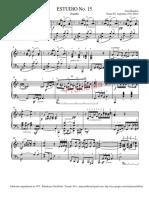 Estudio No. 15 (Zamba) - Partitura