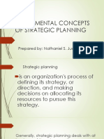 FUNDAMENTAL CONCEPTS OF STRATEGIC PLANNING