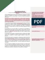 Cédula prueba sancionador - comentarios MFF