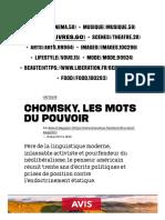 Chomsky, les mots du pouvoir - Culture _ Next