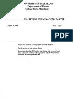 QualifyingExamProblemPhysicsUnivOfMaryland-2005-2012.pdf