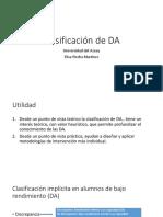 Clasificación de DA