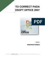 Auto Correct Pada Microsoft Office 2007