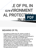 ROLE OF PIL IN ENVIRONMENTAL PROTECTION IN INDIA