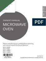 MC2146BG user guide to microwave