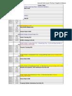 2020 timetable