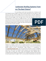 Why Are Polycarbonate Roofing Systems From Tuflite Polymers the Best Choice-converted