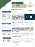 Rudra Shares Bandhan bank ltd result update - Short Term Call Research Report                                      Bandhan Bank Ltd Result Upadte