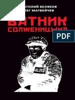 Беляков А.В., Матвейчев О.А. - Ватник Солженицына - 2018