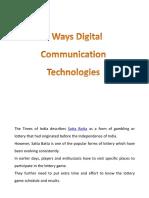 4 Ways Digital Communication Technologies