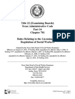 Texas Social Worker Rules