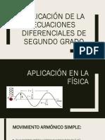 Aplicación de la ecuaciones diferenciales de segundo grado