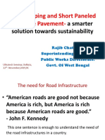 Short Paneled Concrete Pavement- a better alternative solution for sustainability on a