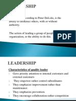 leadeship(total quality management)