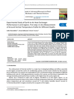 Experimental Study of Earth to Air Heat Exchanger Performance in arid regions. First step in-situ Measurement of Ground Vertical Temperature Profile for Different Depths