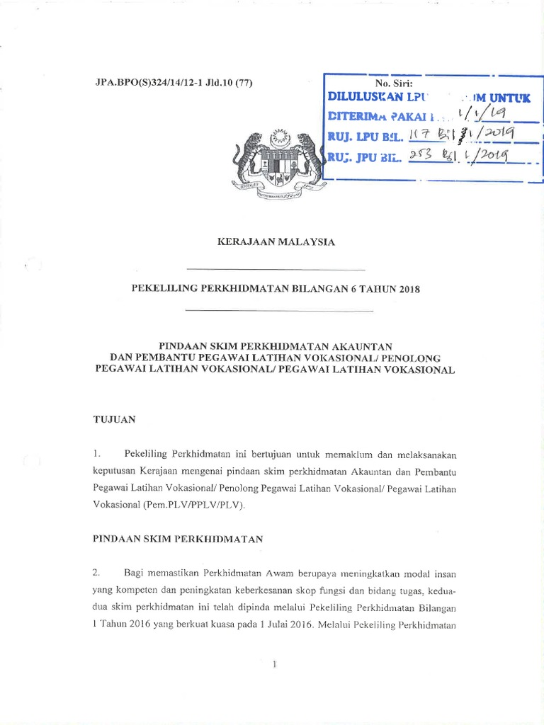 Pindaan Skim Perkhidmatan 2018 Pdf