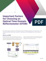 important factors choosing otdr