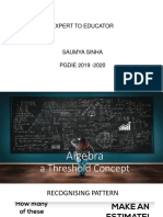 Algebra as Threshold Concept V3.0