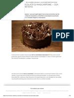 Tort cu ciocolată și mascarpone - cea mai simplă rețetă _ Savori Urbane