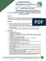 DIRECTIVA DE FINALIZACIÓN DEL AÑO ESCOLAR 2019