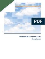 MatrikonOPC Client for ODBC User Manual