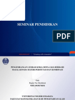 PPT seminar pendidikan pengembangan perangkat