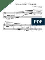 C Scale and Cadanze (Hanon) - Full Score