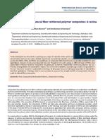 Study on tribology of natural fiber reinforced polymer composites