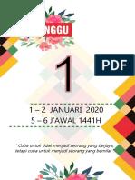 DIVIDER MINGGUAN RPH VERSI ABSTRAK 2020