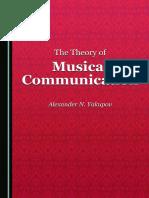Yakupov, Alexander N. - The theory of musical communication-Cambridge Scholars Publishing (2016)