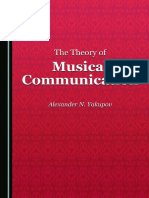 Yakupov, Alexander N. - The theory of musical communication-Cambridge Scholars Publishing (2016)