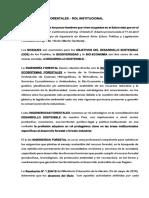 El Rol Institucional-documento de La Faif y Colegios Profesionales de las Cs Forestales