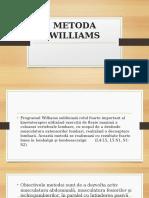 CURS 10- METODA WILLIAMS