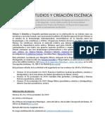 DEBATE I. Estudios y Creacion Escenica
