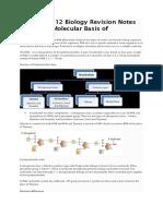 CBSE Class 12 Biology Revision Notes Chapter 6 Molecular Basis of Inheritance