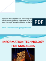 Information Technology for Managers Slide