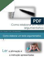 Como elaborar Texto argumentativo ppt