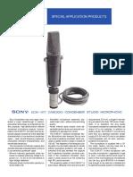 Sony ECM 377 Microphone Data Sheet