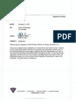 Greenville Police Chief Ken Miller's Resignation Letter