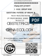 Obstetrics & Gynaecology  2019-2008 Regular+Supplementary Group wise Question Papers WBUHS