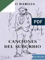 Canciones del suburbio - Pio Baroja